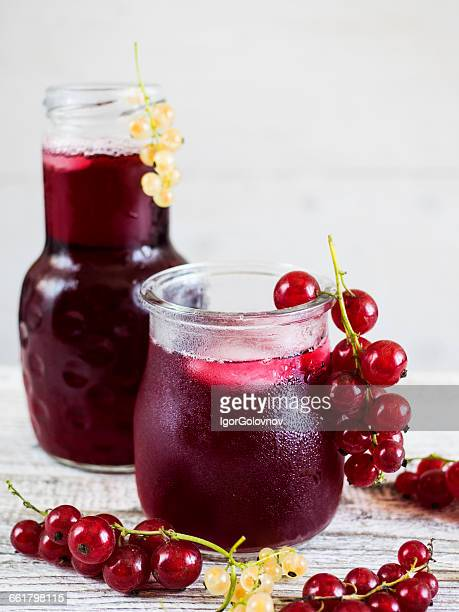 bottle and Glass of iced Hibiscus Tea