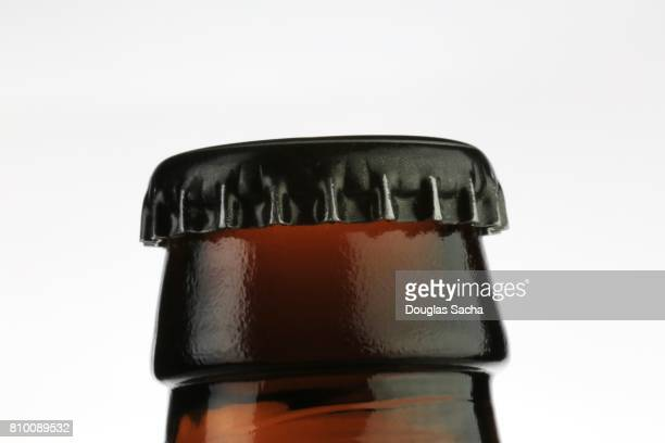 Bottle cap on a beer bottle