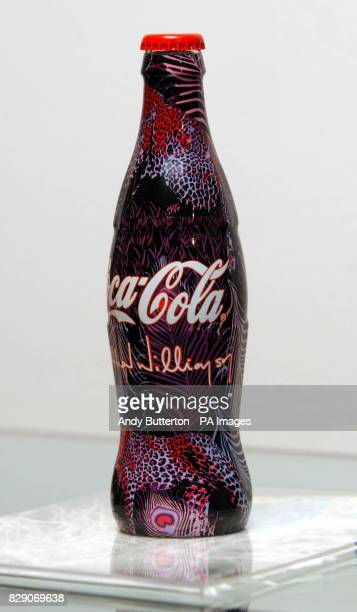 A bottle from the CocaCola The Summer Icon Collection British fashion designer Matthew Williamson designed a set of three limited edition CocaCola...