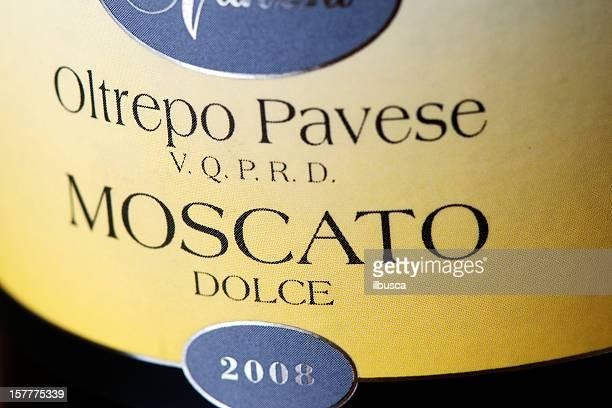 Etichetta della bottiglia di Moscato Dolce vino
