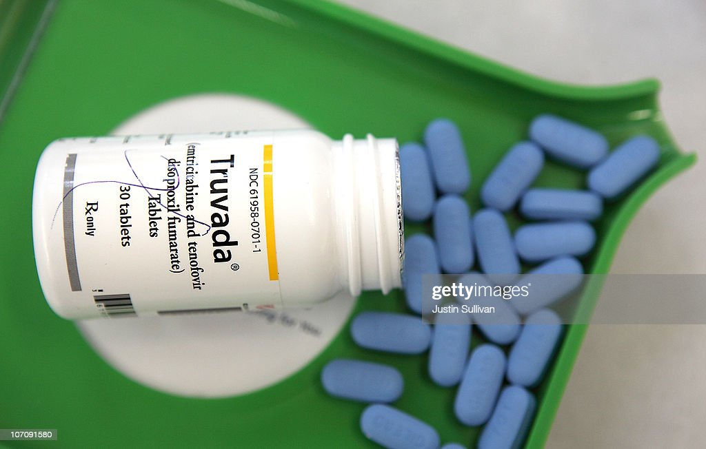 A bottle of antiretroviral drug Truvada is displayed at Jack's Pharmacy on November 23, 2010 in San Anselmo, California. A study published by the New England Journal of Medicine showed that men who took the daily antiretroviral pill Truvada significantly reduced their risk of contracting HIV.