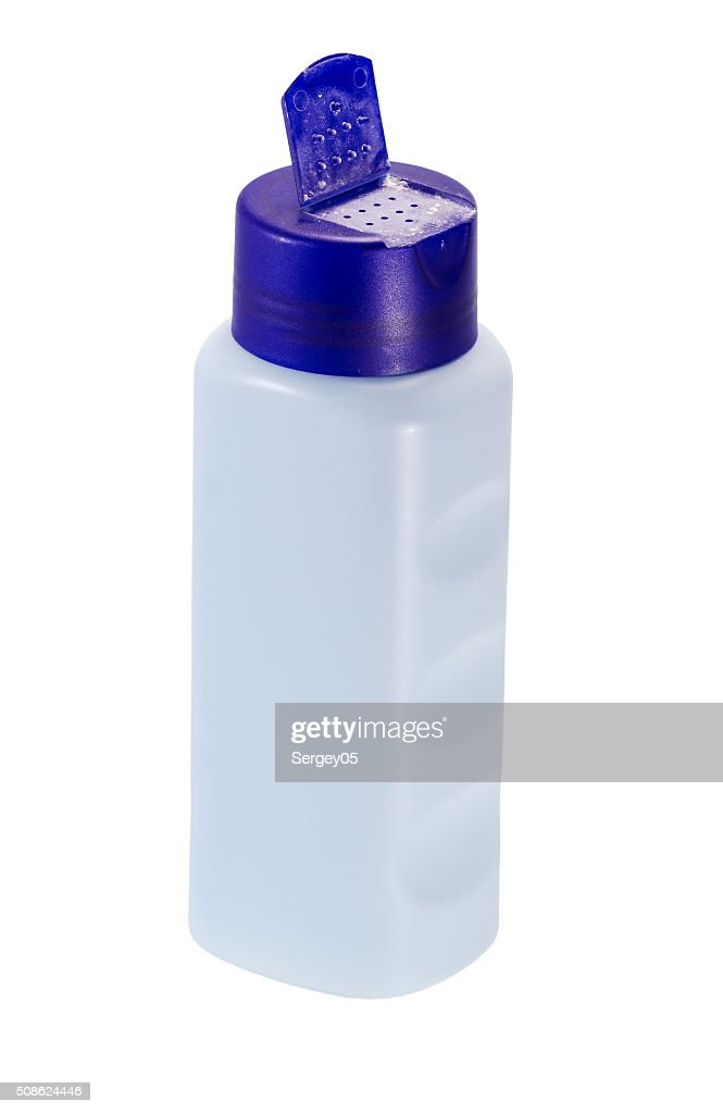 bottle of baby powder talcum : Stock Photo