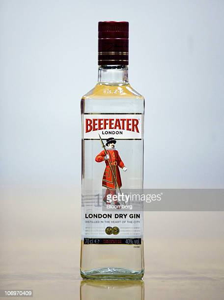 A bottle of Beefeater gin sits on display at the Pernod Ricard SA bottling plant in Dumbarton UK on Friday Nov 19 2010 Pernod Ricard SA the world's...