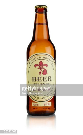 Bottle of Beer with custom label and clipping path