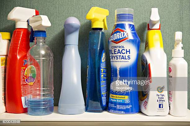 A bottle of Clorox Co Control Bleach Crystals is arranged for a photograph in Princeton Illinois US on Wednesday Oct 26 2016 The Colorox Co is...