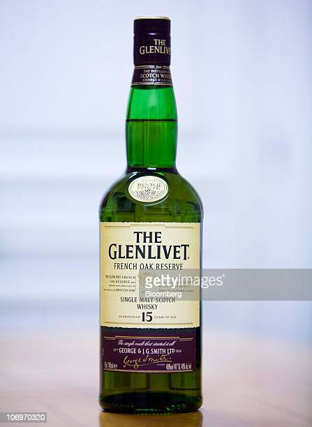 A bottle of Glenlivet '15' whisky sits on display at the Pernod Ricard SA bottling plant in Paisley UK on Thursday Nov 18 2010 Pernod Ricard SA the...