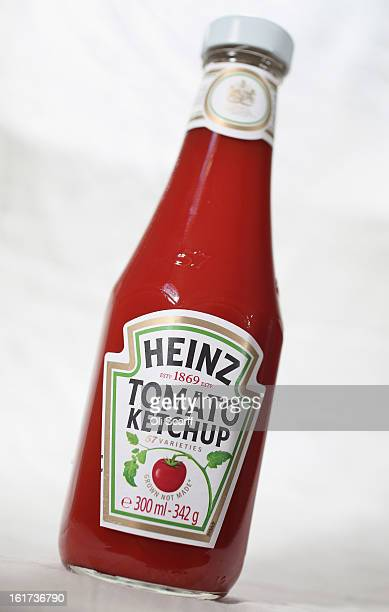 A bottle of HJ Heinz Co Tomato Ketchup on February 15 2013 in London England Billionaire investor Warren Buffett's Berkshire Hathaway is is teaming...