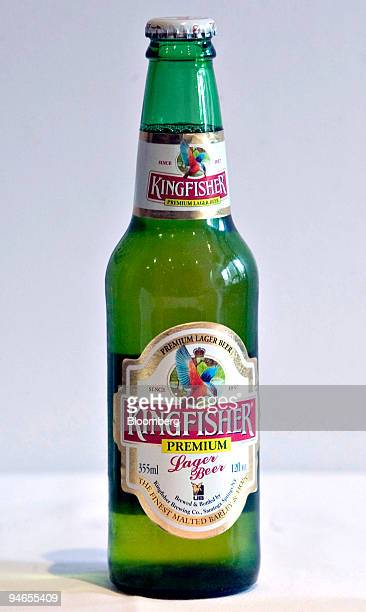 A bottle of Kingfisher Beer is arranged for a photo at Sapphire an Indian restaurant located near Lincoln Center at 1845 Broadway in New York...