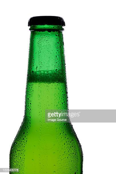 Bottle of lager, close up