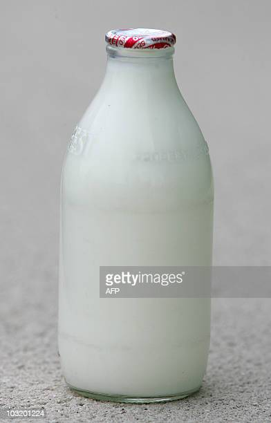 A bottle of milk is pictured in London on August 2 2010 Food safety officials in Britain are to investigate a claim that milk from the offspring of a...