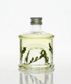 Bottle of thyme vinegar