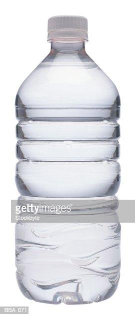 Bottle of water, plastic