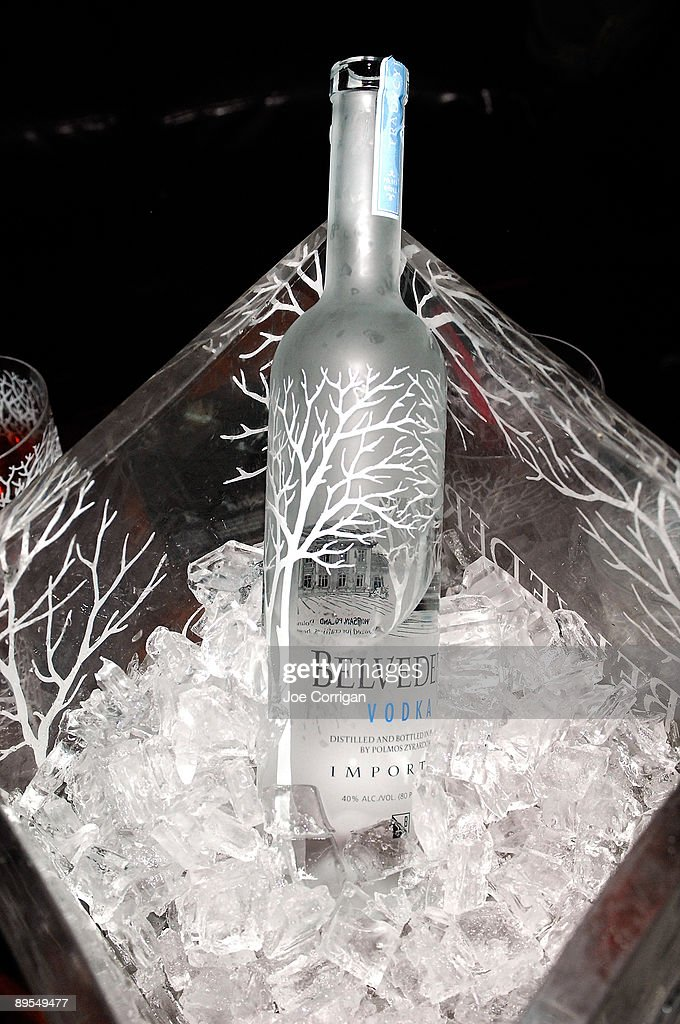 Bottle service display of Belvedere Vodka as they celebrate the partnership between Young Jeezy and Belvedere Vodka at Prime on July 31 2009 in New...