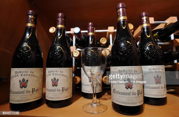 Bottles of 2004 ChateauneufduPape 10 of which are among other wines in a cupboard discovered near the office of new London Mayor Boris Johnson