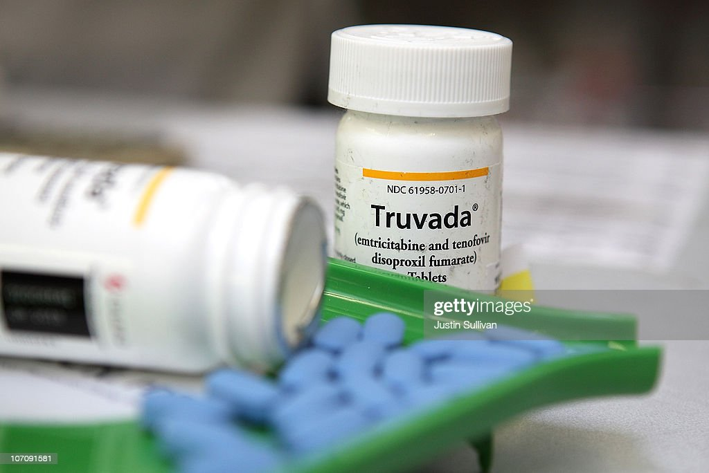 Bottles of antiretroviral drug Truvada are displayed at Jack's Pharmacy on November 23, 2010 in San Anselmo, California. A study published by the New England Journal of Medicine showed that men who took the daily antiretroviral pill Truvada significantly reduced their risk of contracting HIV.
