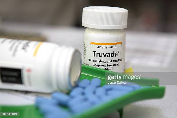 Bottles of antiretroviral drug Truvada are displayed at Jack's Pharmacy on November 23 2010 in San Anselmo California A study published by the New...