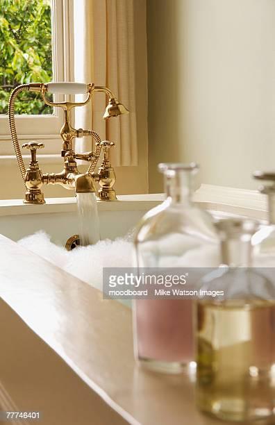 Bottles of Bath Oils by Bubble Bath