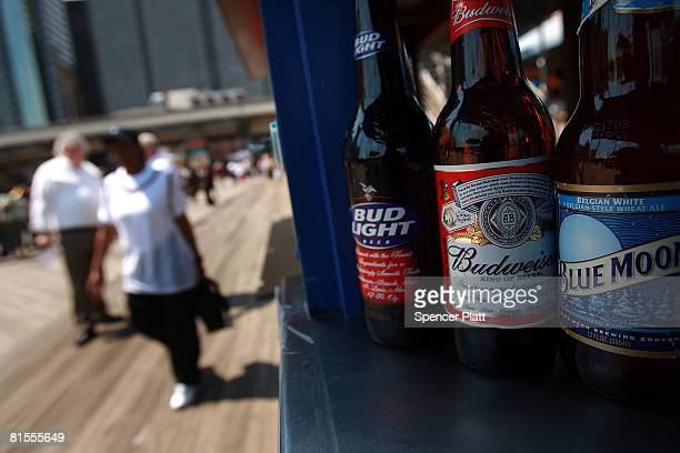 Bottles of Budweiser beer displayed at an outdoor bar June 13 2008 in New York City The BelgianBrazilian brewer InBev has made an offer of $463...