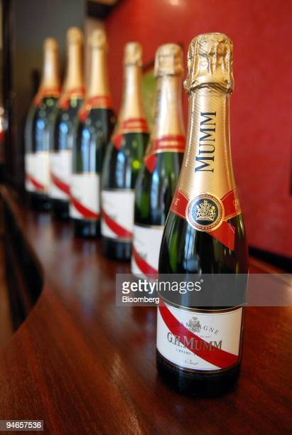 Bottles of champagne are seen at the GHMumm Champagne headquarters in Reims France Wednesday September 13 2006