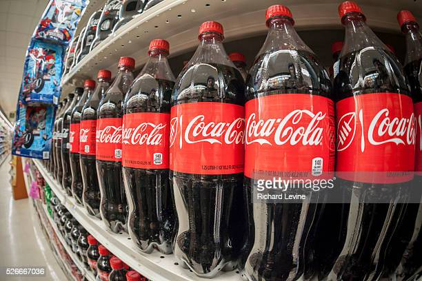 Bottles of CocaCola in a grocery store in New York on Monday February 8 2016 The CocaCola Co is scheduled to report its fourthquarter financials...