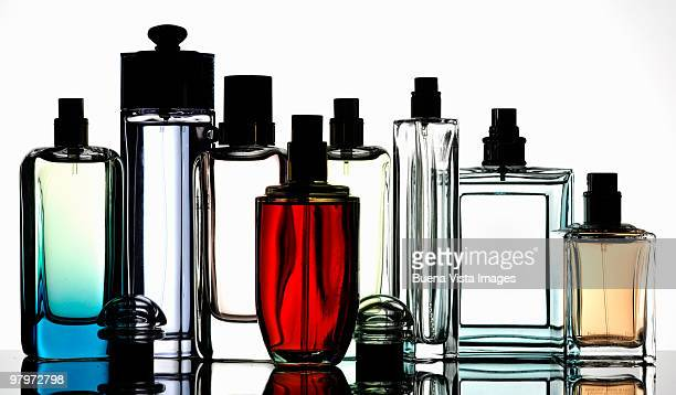 Bottles of fragrances