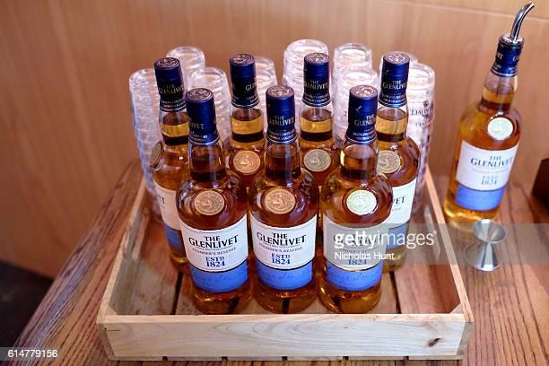 Bottles of Glenlivet on display at Southern Glazer's Wine Spirits Trade Day presented by Beverage Media at Pier 94 on October 14 2016 in New York City