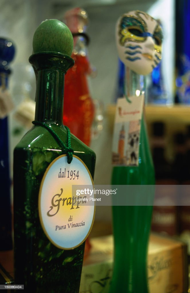 Bottles of grappa.