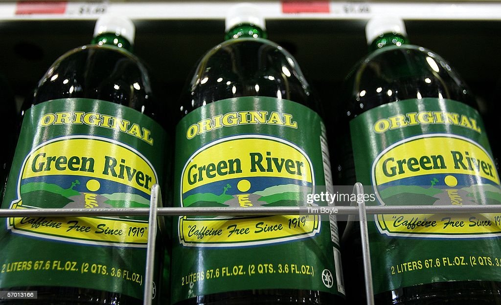 Bottles of Green River soda lie on display at a market March 6, 2006 in Des Plaines, Illinois. A new study reportedly links sugary sodas and drinks to the obesity epidemic.