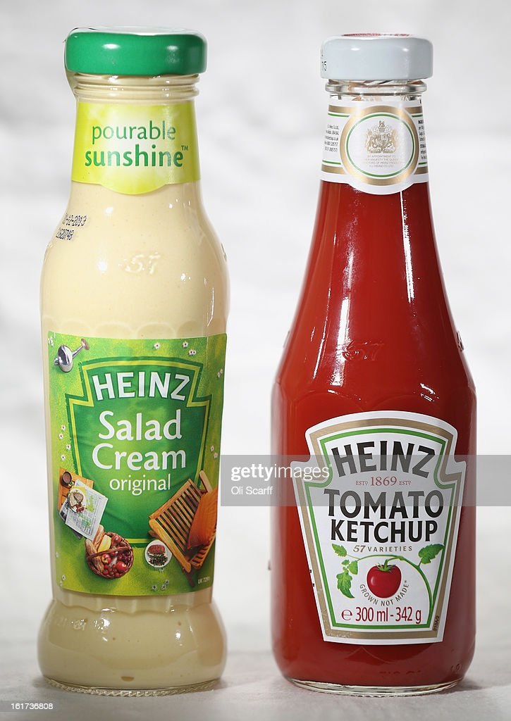 Bottles of H.J. Heinz Co. Tomato Ketchup and Salad Cream on February 15, 2013 in London, England. Billionaire investor Warren Buffett's Berkshire Hathaway is is teaming up with the Brazilian investment group 3G Capital to buy H.J. Heinz Co. for 23.3 billion USD.