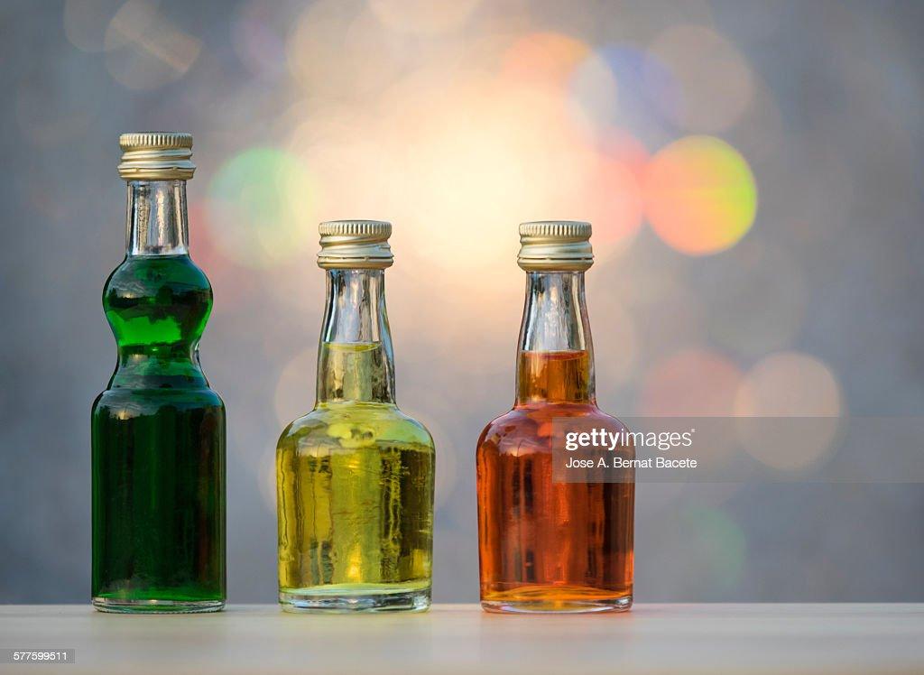 Bottles of liquors : Stock Photo