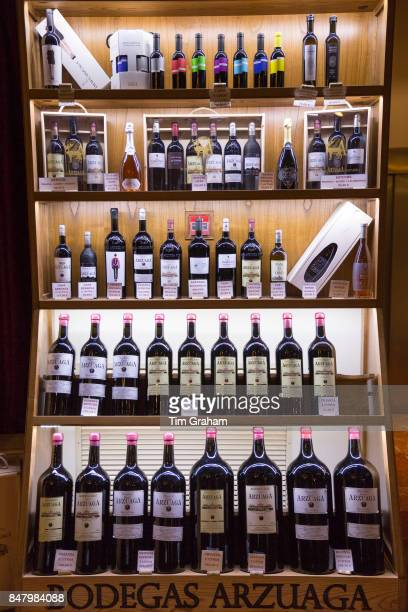 Bottles of red wine of Bodegas Arzuaga Crianza Reserva ribera del Duero wine production by River Duero Navarro Spain