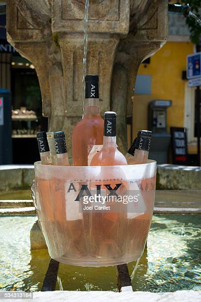 Bottles of rose in Aix-en-Provence, France