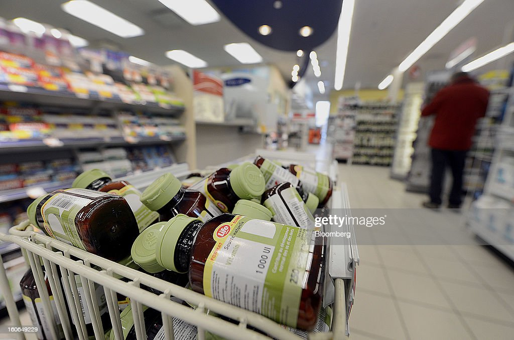 Bottles of Shoppers Drug Mart Corp. Life brand vitamins are displayed for sale at a store in Toronto, Ontario, Canada, on Monday, Feb. 4, 2013. Shoppers Drug Mart Corp., Canada's largest pharmacy chain, is scheduled to release earnings data on Feb. 7. Photographer: Aaron Harris/Bloomberg via Getty Images