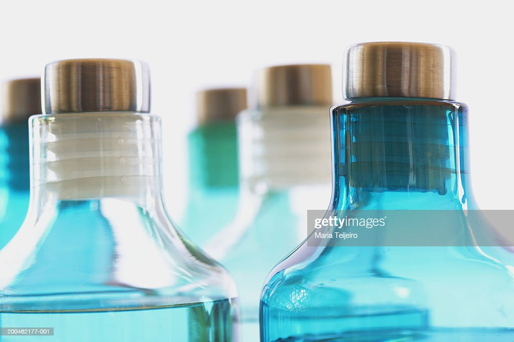 Bottles of spa treatments, close-up : Stock Photo