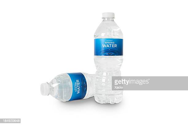 Bottles of Spring Water (fictitious) + Clipping Paths