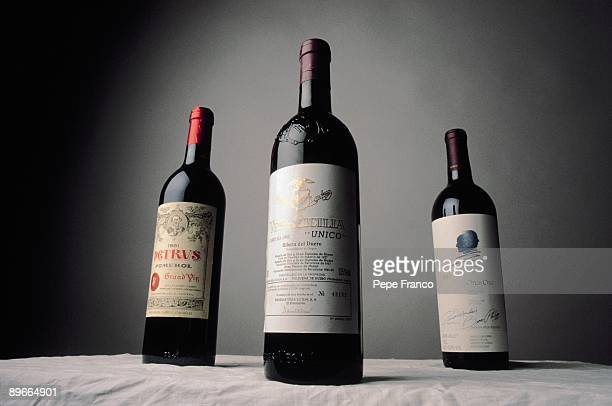 Bottles of wine Three bottles of wine of VegaSicilia It´s about the most expensives bottles yield of 1962 1981 and 1985