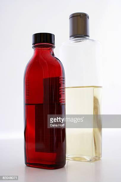 Bottles with liquid