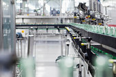 Bottling Plant,Bottled Industry,Manufacturing,   Filling,Blurred motion,Production Floor