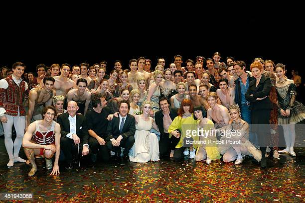 Bottom row 2nd from left Kevin Rhodes Paris Opera musical director Mathieu Chedid Guillaume Gallienne Nicolas Le Riche Sylvie Guillem and Paris Opera...