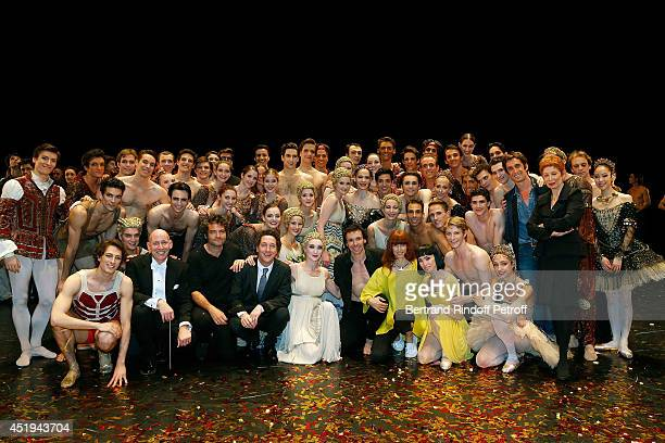 Bottom row 2nd from left Kevin Rhodes Paris Opera musical director Matthieu Chedid Guillaume Gallienne Nicolas Le Riche Sylvie Guillem and Paris...