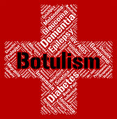 Botulism Word Representing Ill Health And Attack