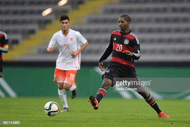 Boubacar Barry of Germany in action during the U20 MercedesBenz Elite Cup at ScholzArena on October 10 2015 in Aalen Germany