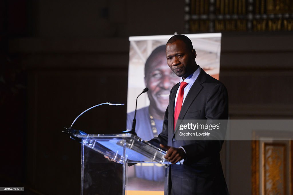 <a gi-track='captionPersonalityLinkClicked' href=/galleries/search?phrase=Boubacar+Barry&family=editorial&specificpeople=550738 ng-click='$event.stopPropagation()'>Boubacar Barry</a> speaks onstage at the Annual Freedom Award Benefit Event hosted by International Rescue Committee on November 5, 2014 in New York City.