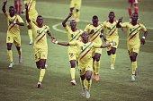 Boubacar Traore of Mali celebrates his goal during the FIFA U17 World Cup Chile 2015 semi final match between Mali and Belgium at Estadio La Portada...
