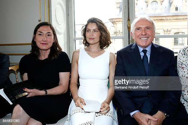 CEO Boucheron Helene PoulitDuquesne model Laetitia Casta and Francois Pinault attend the Presentation of Maison Boucheron New 'Haute Joaillerie'...