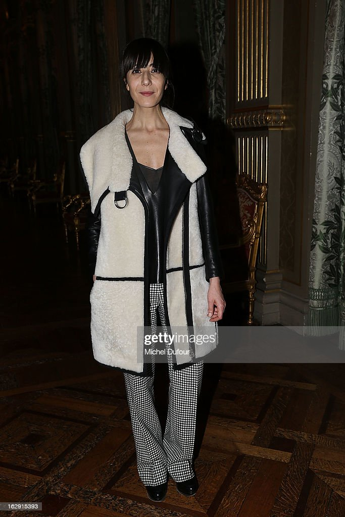 <Bouchra Jarrar>attends Swarovski 'Paris Haute Couture' Exhibition as part of Paris Fashion Week on February 28, 2013 in Paris, France.