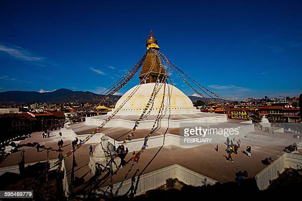 Boudhanath Stupa & Prayer Flags