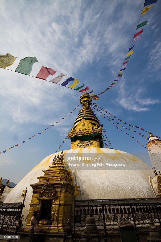 Boudhanath Stupa with Prayer Flags