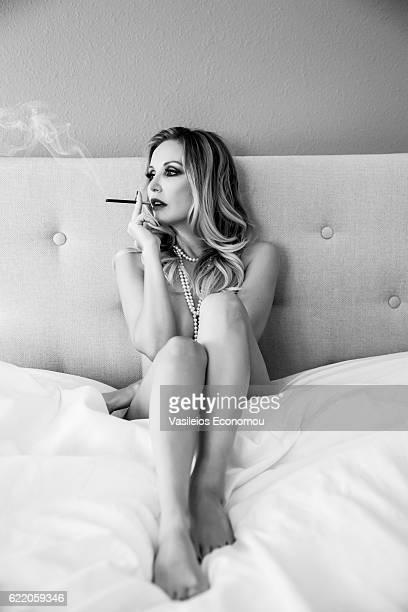 Boudoir Woman Smoking
