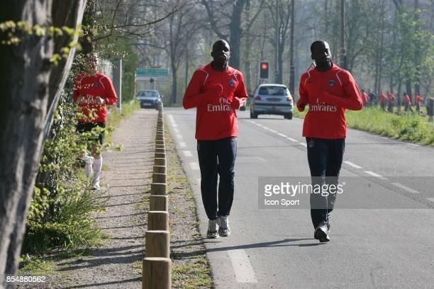 Boukary DRAME / Amara DIANE entrainement et decrassage du PSG Camp des loges St Germain en laye